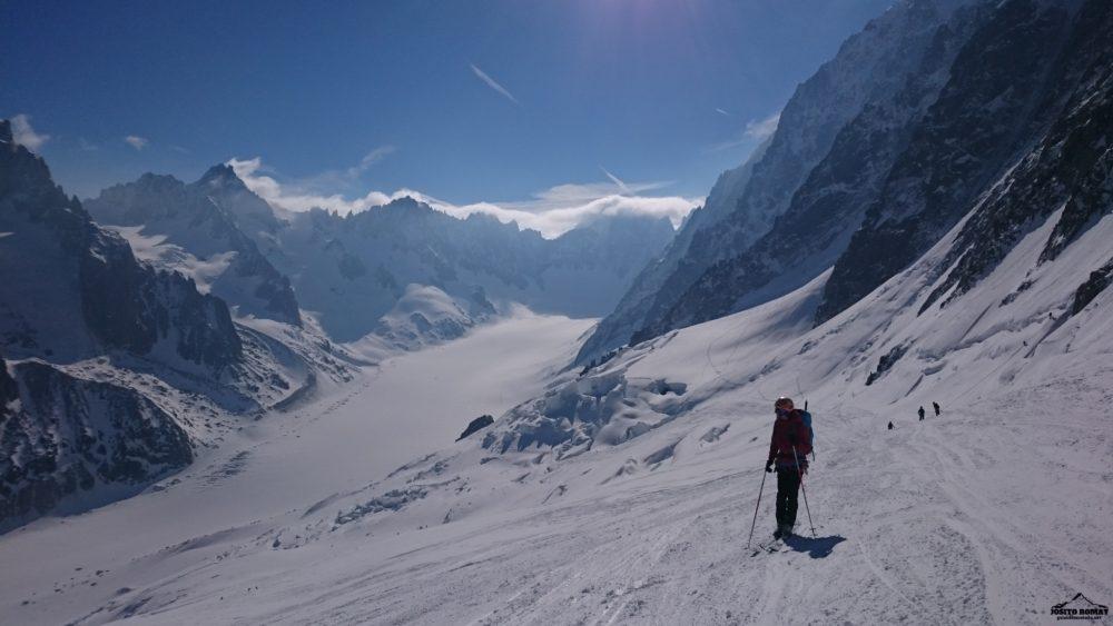 Travesía con skis al Mont Dolent, Chamonix