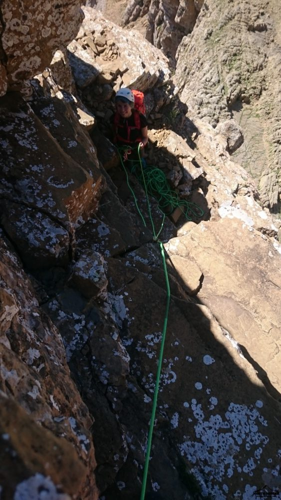Cresta de los Murcielagos y Midi por la normal