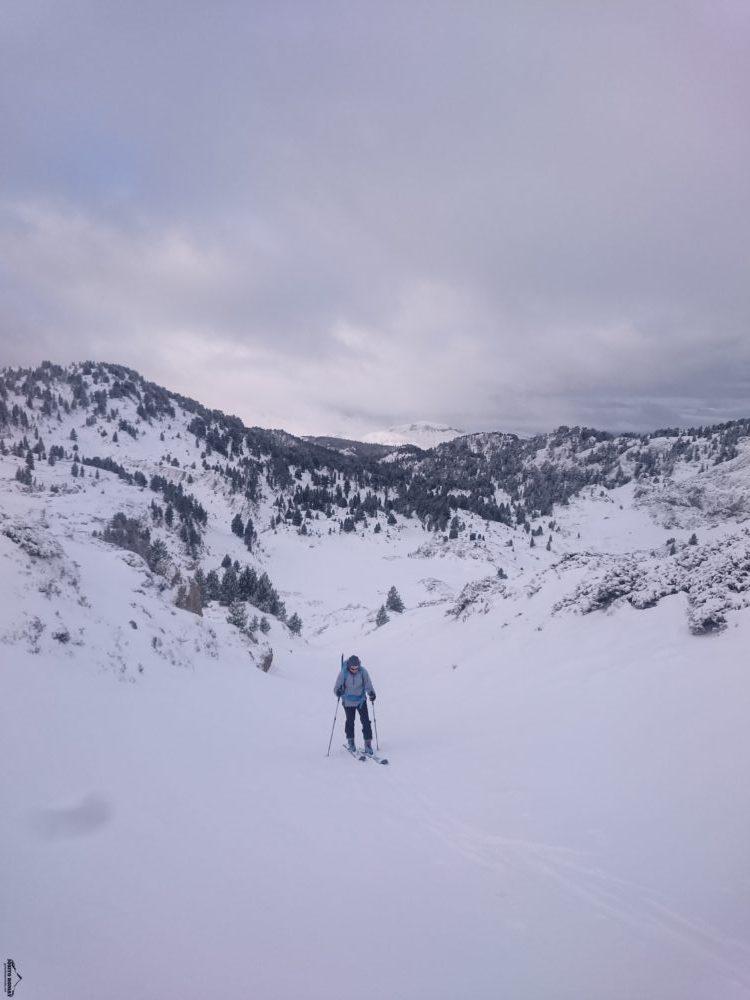 Primera salida con skis de la temporada por la zona del Anie