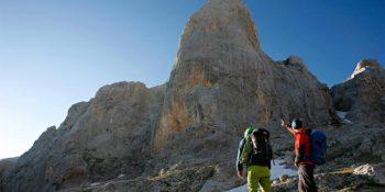 Tour de Escalada por Picos de Europa. El Espolón de Los Franceses, Urriellu y Horcados Rojos.